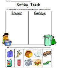 Sorting Trash - Earth Day Recycling Activity