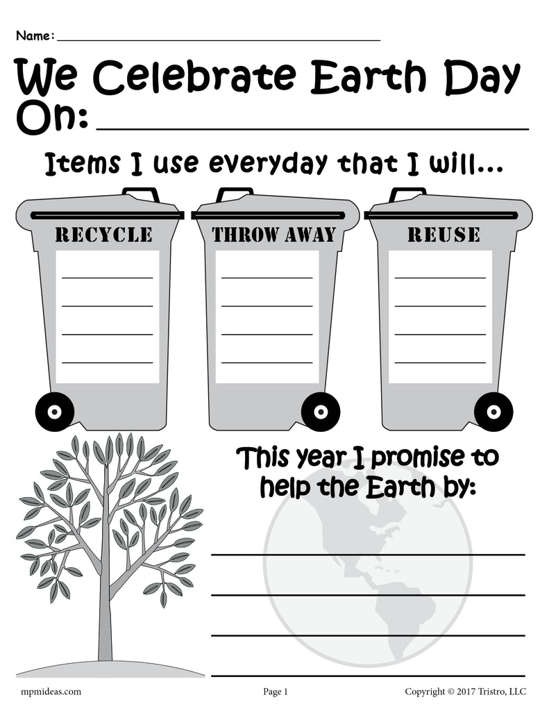 Earth Day Writing Activity - FREE Printable!