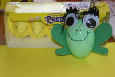 Easter Egg Frog Craft for Leap Day!