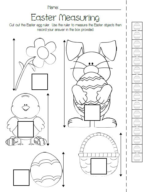 Printable Easter Measuring Activity