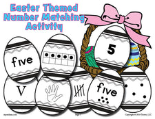 FREE Printable Easter Matching Game & Activity Numbers 1-10!