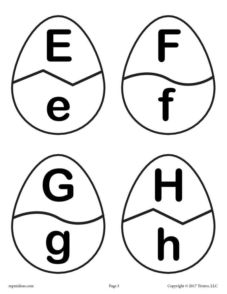 Easter Egg Alphabet Matching Game - Printable Spring Activity