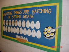 "Making Things ""Egg-Citing""! Back-to-School Bulletin Board Idea"