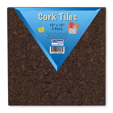 Dark Cork Tiles, 4 Pack