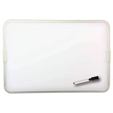 "Two-Sided Framed Magnetic Dry Erase Board, 12"" x 17.5"""