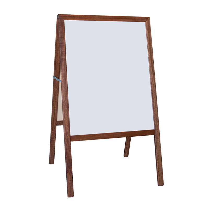 "Stained White Dry Erase/Black Chalkboard Marquee Easel, 42""H x 24""W"