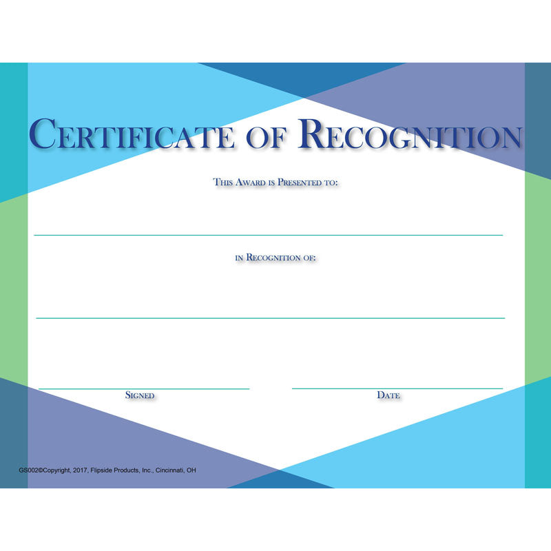 Glass Certificate Of Recognition Flpgs002 Supplyme