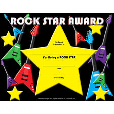 Rock Star Certificate