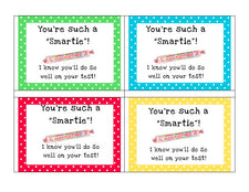 FREE Printable Smartie Testing Notes