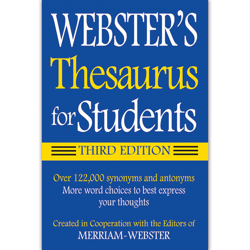 Websters Thesaurus For Students Fsp9781596950948 Supplyme