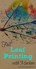 Fun Fall Craft - Leaf Printing with Markers!