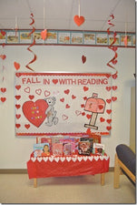 Fall In Love With Reading! - Valentine's Day Library Display