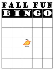 FREE Printable Fall Bingo Game!