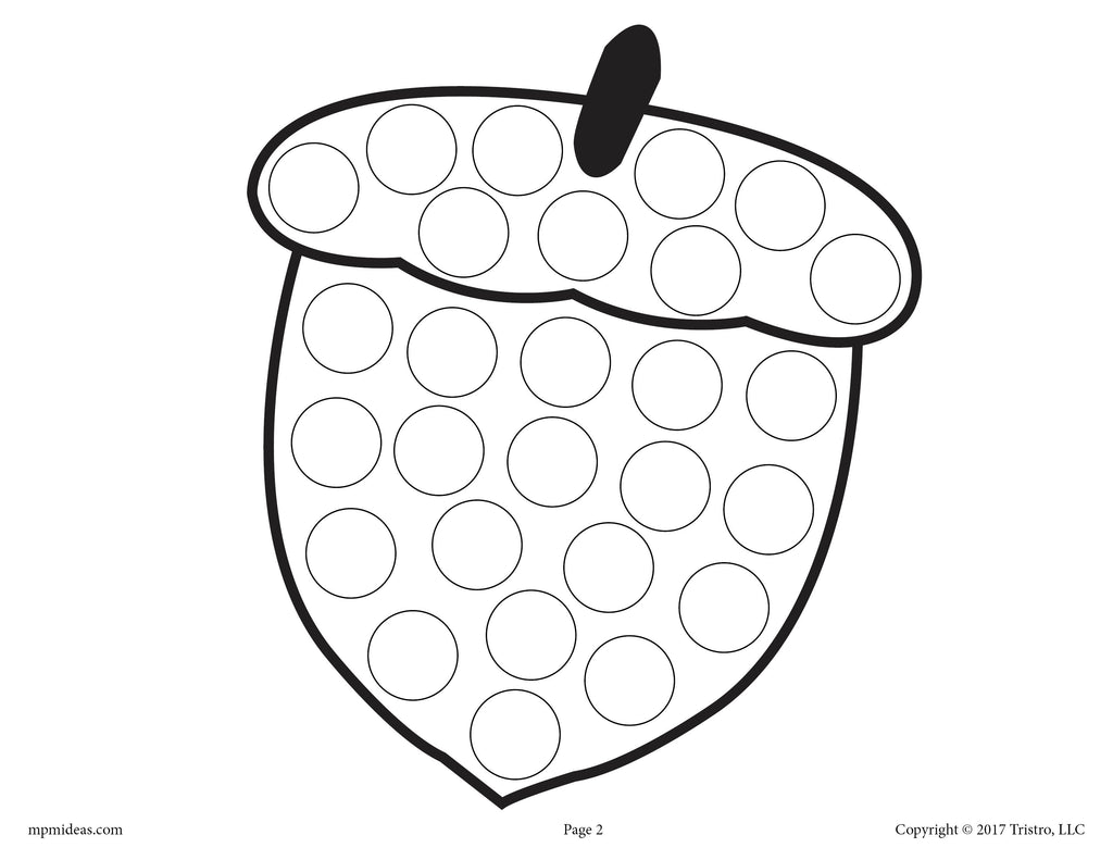 Acorn Do-A-Dot Printable