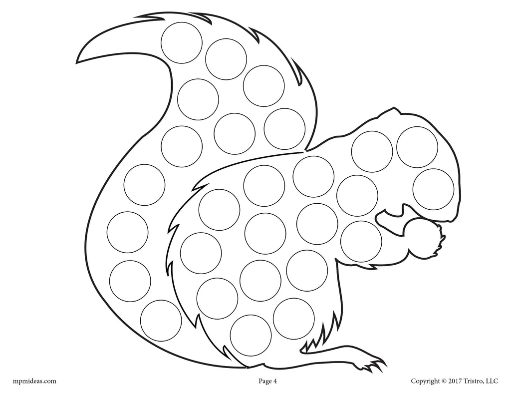 dot art coloring pages free - photo#25