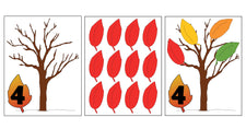 Fall Leaf Counting Activity for Kids Numbers 1-10!