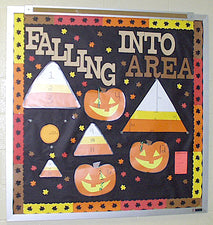 """Falling Into Area"" Interactive Math Bulletin Board"