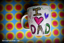 Cute DIY Mugs for Father's Day!