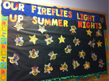 Summer Firefly Bulletin Board Idea & Craft for Kids