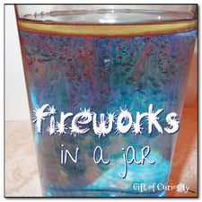 Fireworks in a Jar - Easy & Fun July 4th Activity!