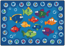 "Fishing for Literacy Alphabet & Numbers Classroom Rug, 3'10"" x 5'5"" Rectangle"
