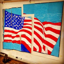 American Flag Mural - Veteran's Day Bulletin Board Idea