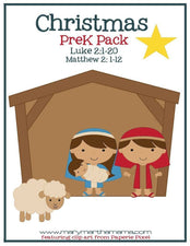 FREE 28-Page Printable Christmas PreK Pack!