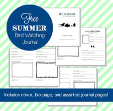 Bird Watching Fun - includes FREE Journaling Printables -!