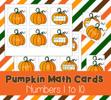 Printable Pumpkin Math Cards