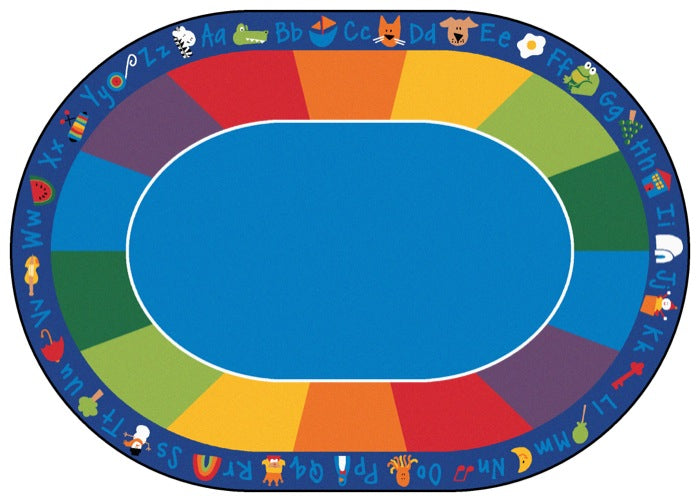 Carpets for Kids Fun With Phonics Alphabet Classroom Circle Time Rug, 8'3