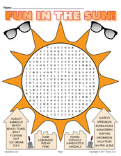 Printable Summer Word Search!