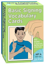 Basic Signing Sign Language Vocabulary Cards Set A, 100 Pack