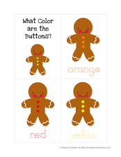 Gingerbread Themed Skill Worksheets