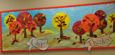 """Give Thanks!"" Thanksgiving Bulletin Board Idea"