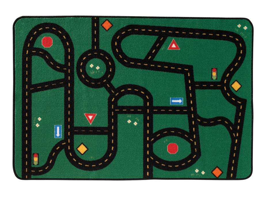 "Go-Go Driving Road KID$ Value Discount Play Room Rug, 3' x 4'6"" Rectangle"