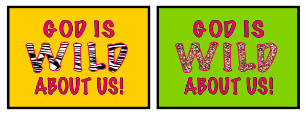 God Is Wild About Us Vbs Amp Sunday School Bulletin Board