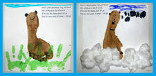 Footprint Craft - and Graphing Activity! - for Groundhog Day