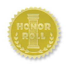 Gold Embossed Certificate Seals, Honor Roll