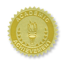 Gold Embossed Certificate Seals, Academic Achievement
