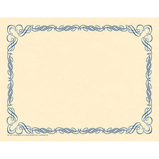 Arabesque Blue Border Paper