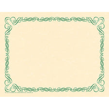 Arabesque Green Border Paper