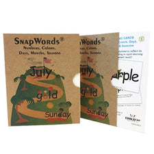 SnapWords® Teaching Cards - Numbers, Colors, Days, Months, Seasons