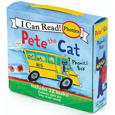 Pete the Cat Phonics Box, 12 Book Set