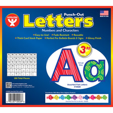"Assorted Fish 3"" Bulletin Board Letters"