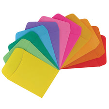 Library Pockets, Assorted Colors, 30 Count
