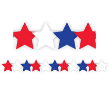 Patriotic Stars Bulletin Board Border