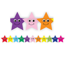 Happy Multi-Color Stars Bulletin Board Border