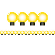 Yellow Lightbulbs Bulletin Board Border