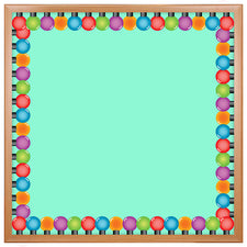 Colored Lightbulbs Bulletin Board Border