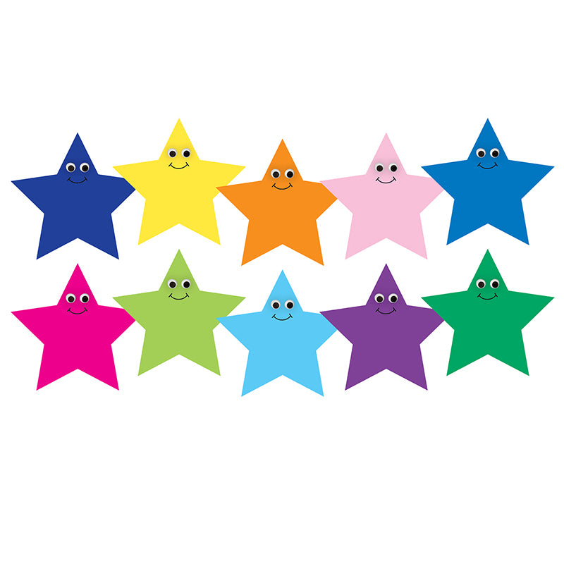 "7"" Happy Multi-Color Star Accents"
